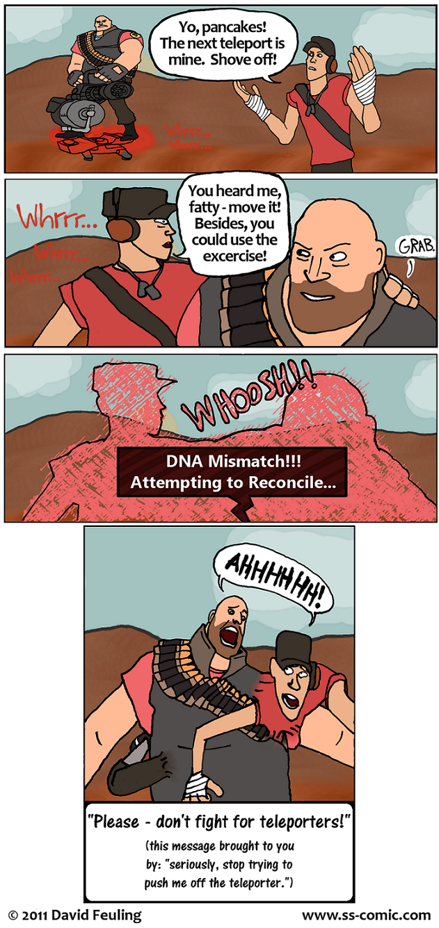 """OOHHHH, THIS IS BAD!"" (a redo of my TF2 comic from Jan. 2009)"